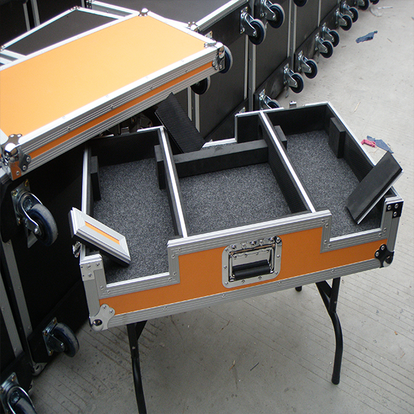 Popular yellow color DJ mixer case