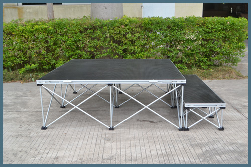 how to build a portable stage