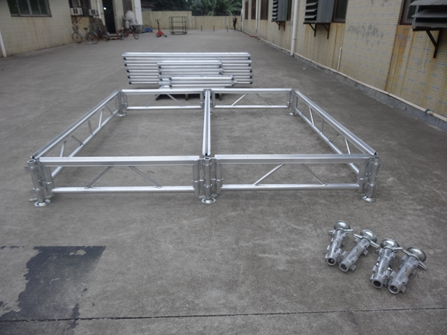 aluminum stage system