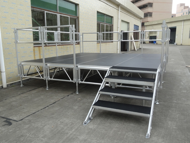 portable aluminum stage system