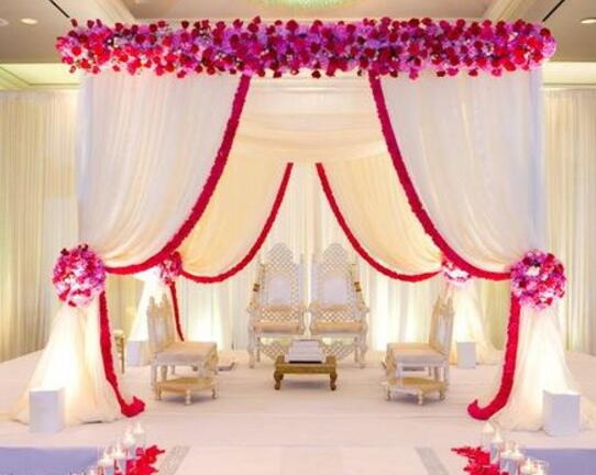 wedding tent display
