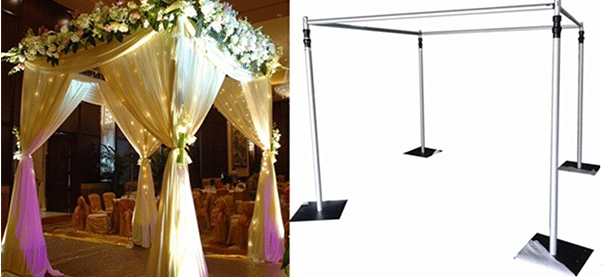 pipe and drape events wedding tent