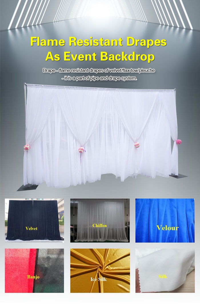 flame resistant drapes as event ba