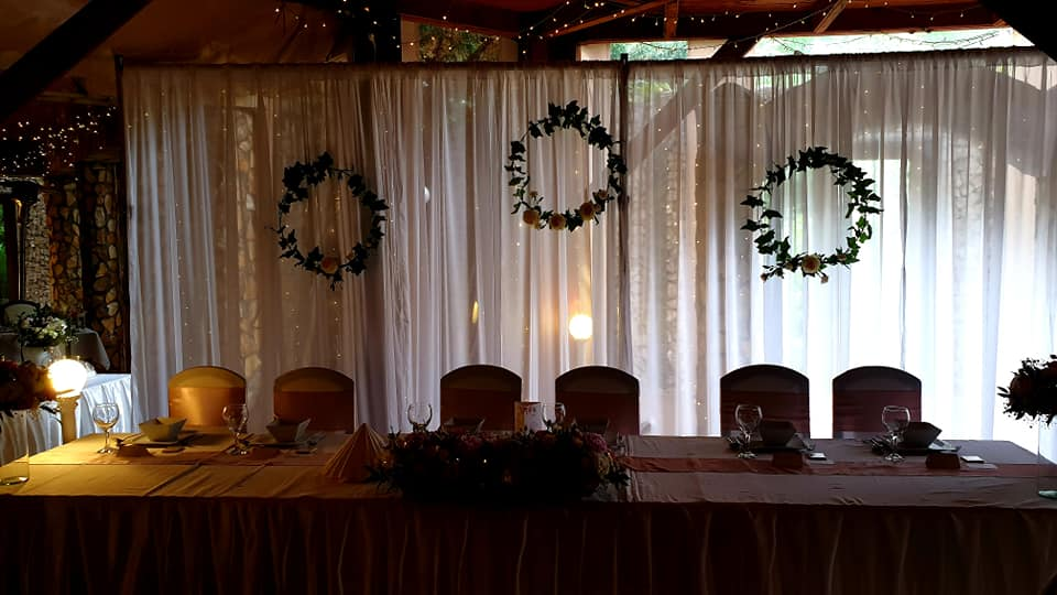 Pipe Drape System For Banquet